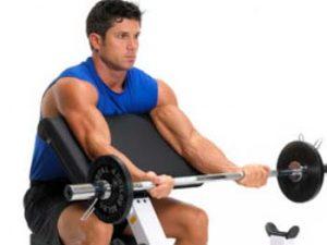 Упражнения за бицепс за оформяне и стягане.